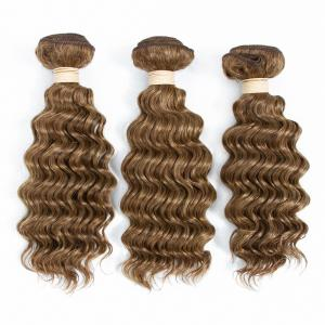 China P4/27 Piano Color Deep Wave Brazilian Remy Hair Weave Unprocessed Human Hair Extensions on sale