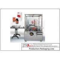 Intelligent Bottle Cartoning Machine / Carton Box Packing Machine Speed Up To 120 BPM