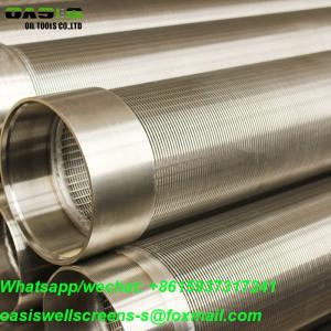 China 0.5mm slot stainless steel johnson type water well screens crepine johnson for water water well drilling forages on sale