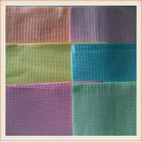 pink, blue, purple, green, yellow disposable dental bibs