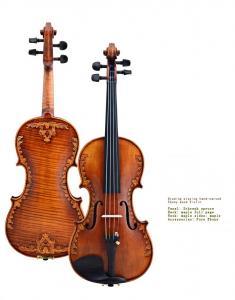 China V07-carved Violin 4/4 Advanced Italy handmade violin Antique Spruce wood Violino Musical Instrument,violin case,rosin on sale