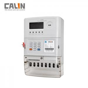 China 20 Digits Token Three Phase Energy Meters , Low Credit Warning Tamper Protection on sale