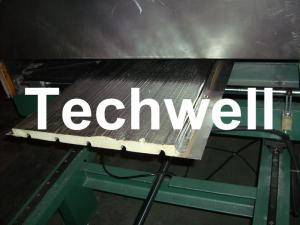 China Continuous Rubber Belt PU Sandwich Panel Production Line For 30 - 100mm PU Sandwich Panels on sale
