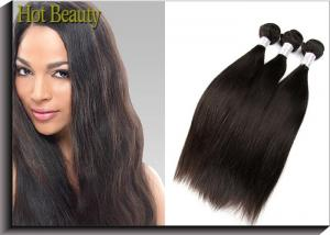 China 22 Inch Virgin Peruvian Human Hair Extensions , Weft Straight Hair on sale