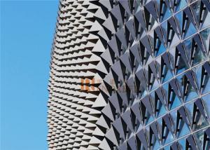 China Corrugated Triangle Shaped Aluminum Architectural Panels Aluminum Wall Panel on sale