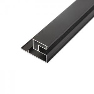 China Anodizing V Rail 0.6mm Aluminum Extrusion Profiles on sale