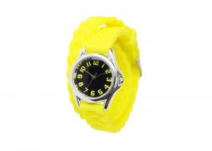 China Yellow Silicone Digital Watch 30M Waterproof , Bracelet Wrist Watch For Women on sale