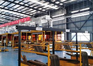 China Customized Color Auto Robot Production Line For Bulldozer Beam And Tipping on sale