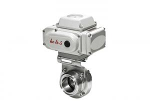 China DC 1 - 5V T304 T316L Electric Actuated Butterfly Valve , Electrically Operated Butterfly Valve on sale