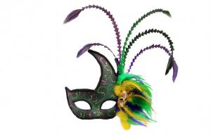 China Colombina Plastic mask with feather    PF3138 on sale