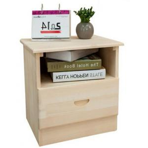China Single Drawer Hardwood Bedside Tables , Pretty Bedside Chest Drawers For Home on sale