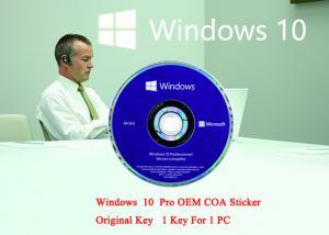 China English Language PC Computer SoftwareWin10Pro 64 Bit Genuine Product Key Full Version on sale