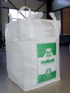 China White Black Bulk Food Grade FIBC Bag Big Ventilated Pp Woven Bag on sale