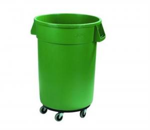 China New Products Plastic round trash can waste basket lidless garbage bins with dolly  for sales on sale