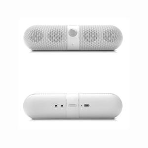 China Pill Portable Wireless Stereo Bluetooth Speaker Rechargeable With Carrying Bag With NFC on sale