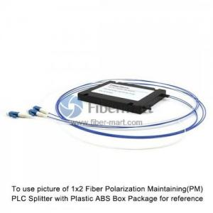 China 1x4 Fiber Polarization Maintaining(PM) PLC Splitter Slow Axis with Plastic ABS Box Package on sale