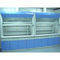 China 1.0mm Cold Rolled Steel Chemical Fume Hood , Blue Lab Fume Cupboard on sale