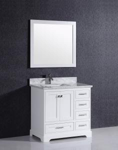 China T9199Classic waterproof bathroom solid wood cabinet furniture on sale