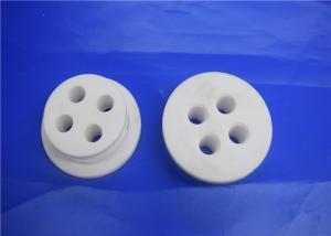 China Alumina Ceramic Disc With Small Hole , High Temp Ceramic Terminal Housing Multiple on sale