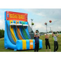 Enviromental Inflatable Basketball Hoop With Basketball Shooter Games