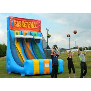 China Enviromental Inflatable Basketball Hoop With Basketball Shooter Games on sale