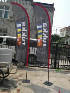 China Fast Delivery DigitalPrintedknife flying advertising flags 110gsm knitted polyester on sale