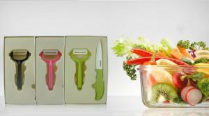 China Ceramic Knife Set / China Promotional Gift for Ceramic Fruit Knife Set with Apple Peeler on sale