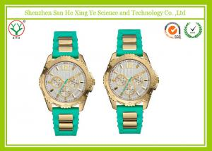 China Silicone Rubber Casual Sport Watches , Green Women Wrist Watches on sale