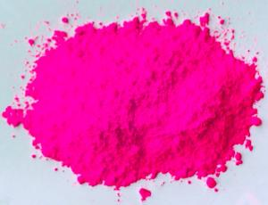 China Rose Red Fluorescent Pigment use in resin and varnish and paints for leather and cloths on sale