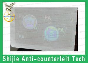 Quality IDカードのためのPAのホログラムの上敷のステッカー for sale