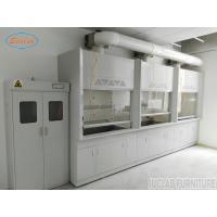 China Anti Strongest Acid  Alakli White / Blue Steel Fume Hood For Chemical Factory  / School  /  Hospital on sale