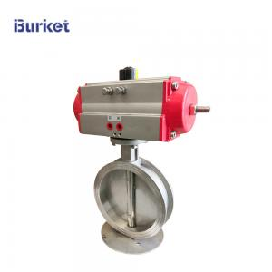 China PN16 3 inch  Pneumatic Aluminum alloy cylinder actuator Control flanged metal Butterfly valve for dyeing on sale