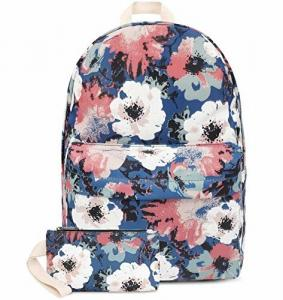 China Fashion Lightweight Travel Backpack School Bag With Wallet Peony Printed on sale