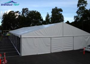 China Solid Sidewall Large Marquee Tent Hire With ABS Walls For Storage on sale