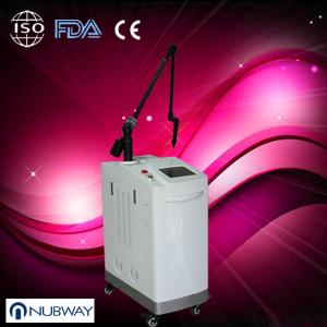 China Professional White Vertical Q Switched Nd Yag Skin Care Machine for Pigmented Lesion on sale