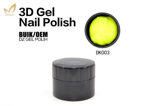 Emboss 20 Colors Carving 4d 3d Gel Nail Polish Private Label Allowed