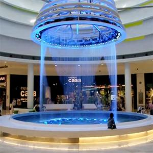 China Programmable Musical Waterfall Decorative Indoor Fountain Digital Graphic Water Curtain Sprinkler For Indoor Decoration on sale