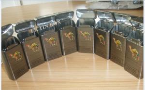 China 10 Sticks Embossed Vintage Cigarette Cases King Size Camel Metal Cigarette Box 100'S on sale