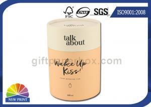China Персонализированные цилиндрические подарочные коробки печатая упаковку трубок картона бумажную on sale