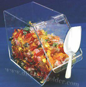 China Clear Acrylic Food Containers Candy Case Dispenser on sale