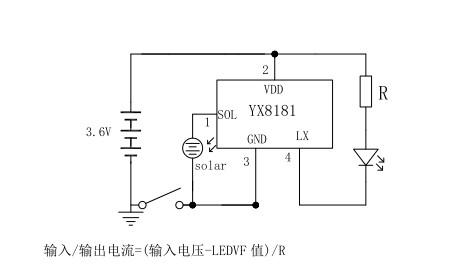 Yx8181 Led Solar Lawn Lamp Driver Ic Yx8181 Lithium Battery26 5v