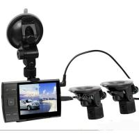 AS3000A 1280*720P Car Video Recorder With 2 Reversing Rear View Cam 3.5 Inch LCD Record Real Time Road Conditions
