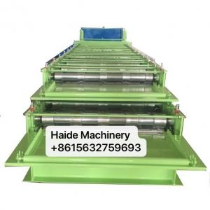 Quality Aluminum Iron Metal Roofing Sheet Double Layer Metal Tile Making Machine 380v for sale
