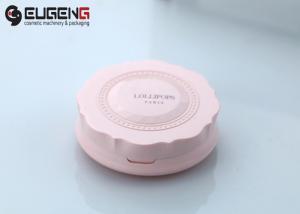 China Blush Single AS / ABS / PETG Empty Compact Powder Case Plastic Makeup Kit on sale