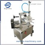 HT900  manual Blue Bubble pleat wrapping machine/blue toilet cleaner block wrapping machine