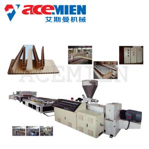 China PVC Door WPC Profile Production Line , WPC Extrusion Line 380V 50HZ 3Phase on sale