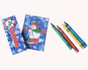 China Snowman coloring book with 4 crayons.Christmas coloring book with 4 crayons for kids on sale