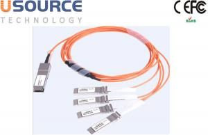 Quality 100G ethernet cable splitter 100G AOC Cable QSFP28 to 4x 25G SFP28 for sale