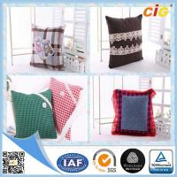 China Polyester Embroidery Decorative Pillow , Sofa Car Christmas Cushion Throw Pillow Case on sale