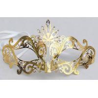 China Gift Prom Metal Venetian Masks , Gold Venetian Laser Cut Masks on sale